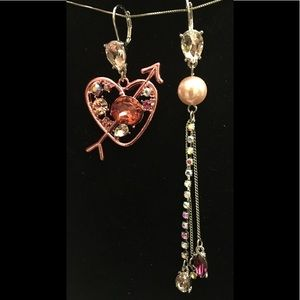 BETSEY JOHNSON ❤️Heart & Arrow Mismatch Earrings❤️